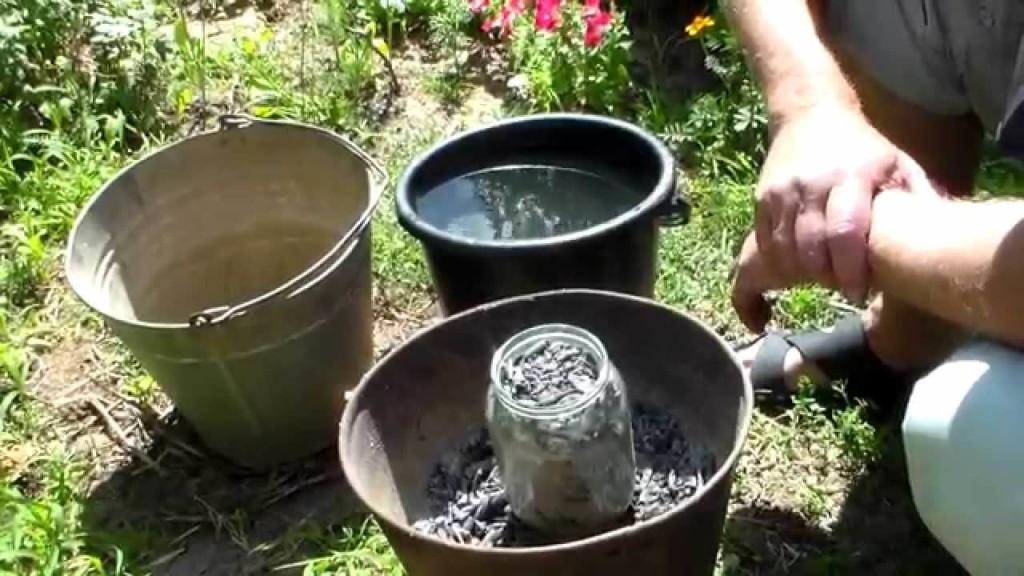 Приготовление раствора из золы