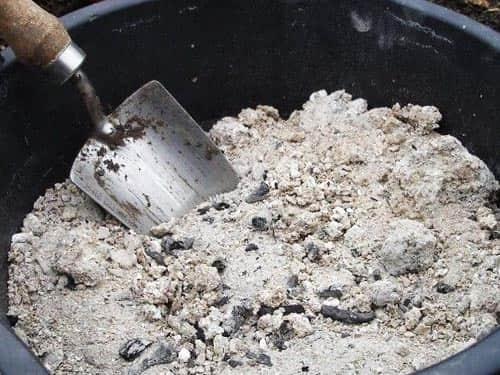 Несгораемые остатки древесины