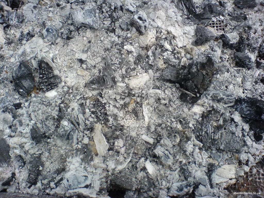 Несгораемые частицы древесины